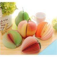 Notepads Supplies Business & Industrial Drop Delivery 2021 Creative Fruit Shape Cute Lemon Pear Stberry Memo Pad Sticky Paper Pop Up Notes Sc