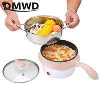 DMWD 1.2L Multifunción Pote de cocina eléctrica con vaporero sin palanca de arroz Pote caliente Fideos Caldera Calentador Warmer Fryer1
