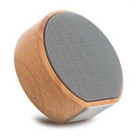 Altavoces portátiles A60 Grano de madera Bluetooth Soporte de altavoz TF AUX Audio en manos Llamada gratis Mini subwoofer Wireless1