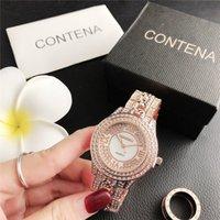 Neue model frauen quarz para relojes mode diamanten uhr stahl strass armbanduhren frau mujer xfcs watch konta oqwri dhl frei