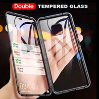 Double Side Glass Magnetic Metal Case For Huawei P40 30 20 Mate 30 20 Pro Honor 20 30 Lite Magnetic Cover