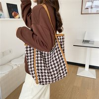 Youda 2020 الشتاء الكورية حقيبة الكتف منقوشة الأزياء ليوبارد طباعة حقائب اليد حقيبة عالية السعة أكياس كتاب قماش حزمة التسوق