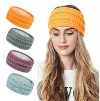 Bandeaux tricotés Femmes Sports d'hiver Bandes de cheveux Turban Yoga Head Band Protégez-vous Bandeau Bandeau Bandeau Bandeau de 20 couleurs Accessoires de cheveux Zyy41