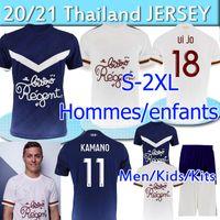 20 21 Girondins de Bordeaux 축구 유니폼 Maja Oudin Arfa T.Basic S.Kalu 2020 2021 Maillot de Football Shirt 남자 성인 키트 키트 유니폼