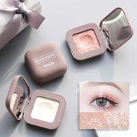Novo Metallic Polarized Glitter The Eye Shadow Pallete Stickiness Длинностойкий Водонепроницаемый Мягкий Мягкий Мягкий Глаз Макияж Косметика Maquillajes