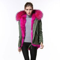 Gerçek Fushia Yaka, Amy Yeşil Her İki Yan Giyim Astar Zarif Kış Bayan Lüks Ceket, MRS Yüksekliği Kaliteli Kadın Kürk Yelek1