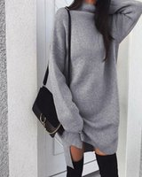 المرأة البلوزات 2021 الخريف الشتاء الدافئة طويلة الأكمام المرأة محبوك الشق سترة اللباس الأبيض الياقة المدورة البلوز البلوز الملابس الإناث