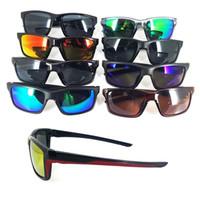 Tasarımcı Göz Kamaştırıcı Gözlükler Yaz Bisiklet Spor Moda Güneş Gözlüğü Kadın Erkek Yansıtıcı Kaplama Plaj Bisikleti Stil 8 Renkler İyi MOQ = 10PC