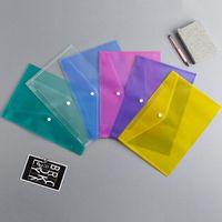 ملف مجلد امتحان الطالب رفوف ورقة A4 أكياس ملف المستند مع زر المفاجئة إيداع شفافة مظاريف المجلدات البلاستيكية 6 لون WY867 HB