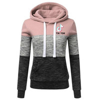 2020 Autunno / Inverno Europeo Europeo e Americano New Color-Blocking TIK Tok Tok Tok CoulisString Sweater