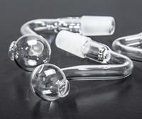 14mm10mm männliche weibliche klare dicke pyrex glas ölbrenner wasserrohre für ölstreifen glasbongs dicke große schüsseln für rauchen fy2335