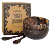 Praktikante Natürliche Kokosnussschale Obst Dekoration Fruchtsalat Nudelschüssel Holz Rice Bowl Handwerk Dekoration Kreative DHL frei
