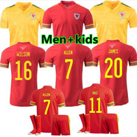 Erwachsene Kinder 2020 2021 Wales Bale Fußball Jerseys James 20 21 Home Away Scotland McGinn Lewis Shankland Findlay National Team Football Hemden