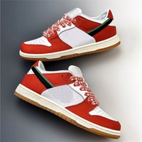 الإطار تزلج x منخفض حذاء حذاء الأبيض الأحمر الأخضر النساء أحذية رجالي منخفض شيكاغو الأحمر dunks الرياضة سكيت الأحذية