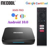 원래 Mecool KM9 Pro Google 인증 Android10.0 4GB 32GB Amlogic S905X2 9.0 ATV 4GB 64GB 4K 듀얼 WiFi 스마트 TV 상자