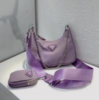 2021 Re-edição 2005 Nylon Bolsas de Ombro De Alta Qualidade Bolsa De Couro Designer Best-seller Lady Cross-Body Luxury Chain Bag Tot