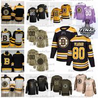 2021 Reverse Retro Anpassen # 80 Dan Vladar Boston Bruins Hockey Jersey Golden Edition Camo Veterans Day Fights Cancer Lila Custom Shirt