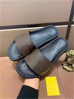 Top01 hombres Mujeres Slide Sandals 20ss Zapatos Slide Summer Fashion Flat Slippery con sandalias gruesas Slipper Flip Flobs