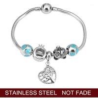 Conteau de fées Pumpkin Chariot en acier inoxydable et vie de l'arbre Fine Perle Pandoras Bracelet Bracelet Bijoux Making1