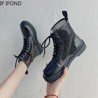 Botas Se Ifond Couro Mulheres Ankle Ankle Menina Britânica Estilo Britânico Motocicleta Sapatos Femininos 2021 Primavera Outono1