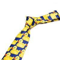 남자 패션 노란색 고무 오리 넥타이 8cm 너비 Bowtie 클래식 캐주얼 넥타이 파티 망 선물 Tie1