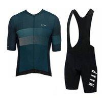 2020 maap فريق الدراجات جيرسي مجموعة الرجال الصيف تنفس قصيرة الأكمام دراجة قميص مريلة السراويل دعوى سباق الرياضة موحدة Y20031302