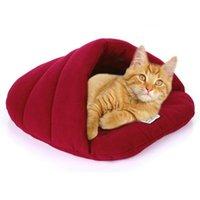 أرقام الكلاب القطط القط الكلب جرو عش السرير لينة الدافئة كهف منزل النوم حقيبة حصيرة وسادة م