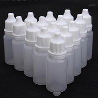 10 pcs 10ml vazio plástico extrusível gotas de garrafa de gotas de gotas líquido Dispenser Loja Pequenos garrafas vazias1