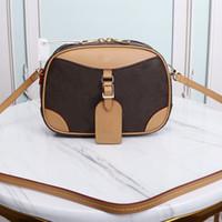 장례식 미니 핸드백 단일 Shouleer 가방 정품 가죽 크로스 바디 가방 오래 된 꽃 카메라 가방 수하물 트렁크 상자 가방 지갑 이름표