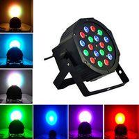 أفضل 18W 18-LED RGB السيارات والتحكم في الصوت حزب المرحلة ضوء أسود أعلى درجة المصابيح الجديدة وعالية الجودة أضواء الاسمية