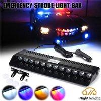 1 Piece 12W DC12V LED Strobe Car Emergency LED Light Bar Visor Deck Dash Police Avvertimento Lampada flash per autobus autobus per autobus