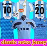 98 99 2000 Lazio Versão Retro Jersey 1989 1991 Lazio Imóvel Sergej Lulic Luis Alberto Soccer Shirt Personalizado Futebol Uniforme