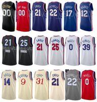 City gagné Edition Print Basketball Basketball Danny Green Jersey 14 Isaïe Joe 7 Matisse Thybulle 22 Furkan Korkmaz 30 Dwight Howard 39 Tyree MAXEY