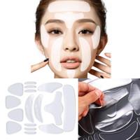16 stücke Wiederverwendbare Silikon Anti-Falten Gesicht Stirn Aufkleber Backe Kinn Aufkleber Gesichtsauge Patches Falten Entfernung Gesicht Anheben