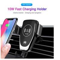 2021 Amazon Sıcak Satış Araba Tutucu Hızlı Şarj Şarj, 10 W Cep Telefonu Için Otomatik Indüksiyon Hızlı Kablosuz Şarj Dock / IWatch / Earbud