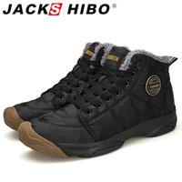 Bottines de neige de la cheville d'hiver de Jackshibo pour hommes étanche camouflage Oxford Bottes chaussures chaussures de doublure à fourrure chaude extérieure Taille 48 201215