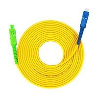 Équipement de fibre optique 10 pcs / lot SC / APC-SC / UPC-SC / UPC Câble de cavalier Simplex 3.0mm FTTH Cordon de patch