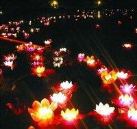 30pcs / lot Valentine Bougies Lanternes Mariage Souhaitant Water Fleur Flot Flottant Lanterne Lampe Lampe Ornement