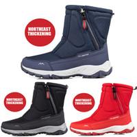 bottes d'hiver pour hommes femmes imperméable neige femmes chaussures chaussures de chaussures d'hiver décontractés chaussures de genou pour femmes plus size couple chaussures de neige
