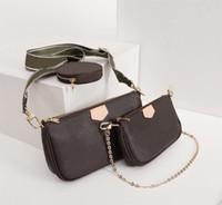 디자이너 럭셔리 좋아하는 핸드백 지갑 멀티 Pochette 액세서리 여성 브랜드 가방 3 피스 슈트 허리 팩 진짜 가죽 어깨 가방