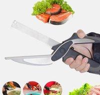Mutfak Bıçaklar Çok fonksiyonlu Sebze Makas Paslanmaz Çelik Kapalı Yüksek Kaliteli Akıllı Sebze Makas Mutfak Bıçağı 3styles WMQ35