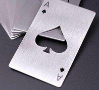 1pcscreative Bottle a forma di poker in acciaio inox opertore in acciaio inox carta di credito Bottiglia da casinò Opner Abrelotas Abrebotellas2021New