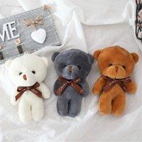Novo tamanho 12cm um empusham brinquedo brinquedo urso boneca pingente keychain pp algodão suave cardilhado ursos brinquedo boneca brinquedo brinquedo presentes