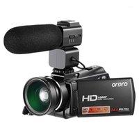 كاميرات الفيديو ordro كاميرا فيديو كاميرا الفيديو الرقمية HD 1080P 24MP 16X ZOOM 3.0 بوصة LCD SN مع الرؤية الليلية الأشعة تحت الحمراء EU Plug