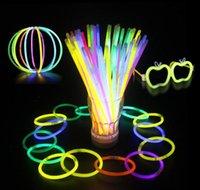 7.8''multi Цвет Горячая светящаяся палочка браслет ожерелья неоновая вечеринка светодиодная вспышка света палочка новинка игрушка LED VOC JLLBNC BDE_JEWELRY