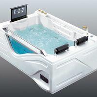 Japanische SSWW Hydro Blase Hot 150 Full HD Luxus im Freien Spa Acryl Badewanne Elektronische Ecke Massage Design Badewanne