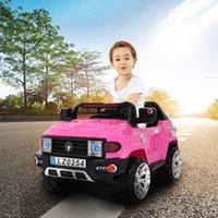 US STOCK 12V Kids Ride sur la voiture Dual-Drive Off-route Véhicule avec 2.4G Télécommande Rose Cadeau de Noël rose