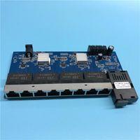 1G8E 10/100/1000M Gigabit Ethernet Switch Fibre optique Convertisseur de supports optiques Mode unique 8 * RJ45 1 * SC Fibre Port PCBA Board1