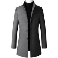 2020 Nouveaux designers Manteau de laine Hommes Hommes Collier Collier Masque Masque Mode Mélange Mélange Veste Outwear Jacket Smart Casual Trench Trench PLUS Taille Taille Sourassage