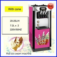 Novo estilo comercial de aço inoxidável comercial saque máquina de sorvete / sorvete rolo fazendo máquina / máquina de gelo macio11